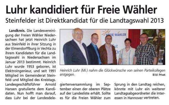 Artikel Sonntagsblatt 120812 Luhr Kandidat